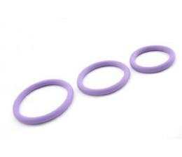 Kroužky na penis FIALOVÁ SADA 3 ks