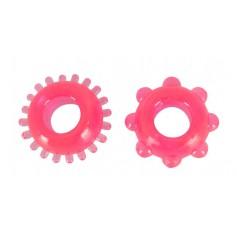 Kroužky na penis růžová DUO SADA 2ks