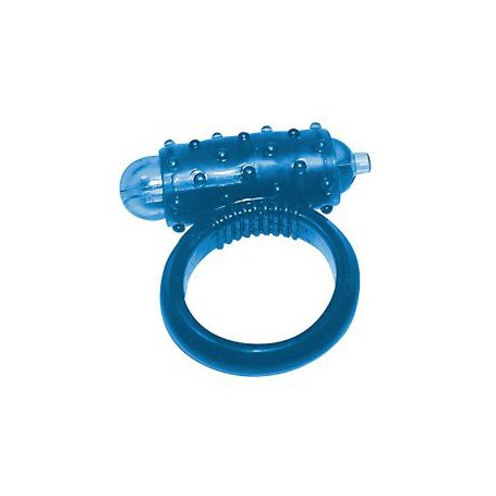 Kroužek na penis vibrační modrý MINI