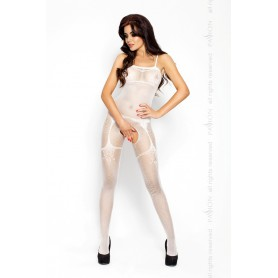 Catsuit PASSION BS006 bílý S-L