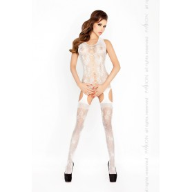 Catsuit PASSION BS012 bílý S-L