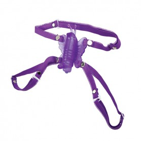 Dráždidlo pro ženy MICRO WIRELESS BUTTERFLY purple