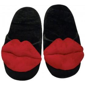 Pantofle plyšové KISS