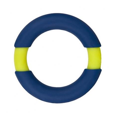 Kroužek na penis NEON STIMU 37 blue yellow