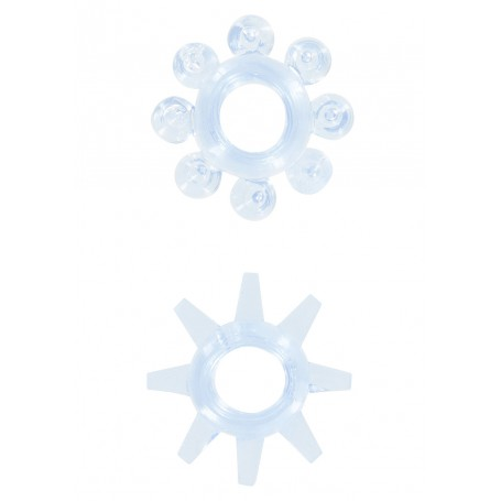 Erekční kroužky POWER STRETCHY modré