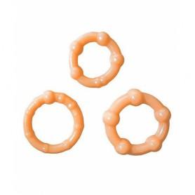 Kroužky na penis GET HARD TĚLOVÁ SADA 3 ks