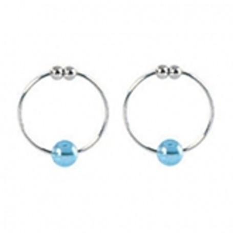 Intimní šperk KROUŽKY na bradavky BLUE CRYSTAL