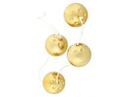 Venušiny kuličky zlaté 4 ks
