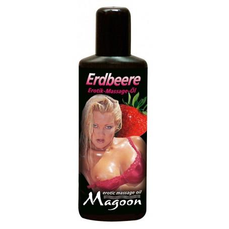 Masážní olej ERDBEERE s vůní jahod 100 ml | Magoon