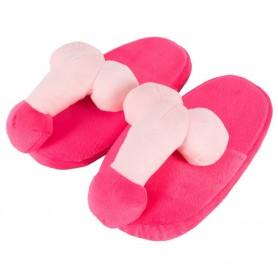 Pantofle plyšové S PENISEM