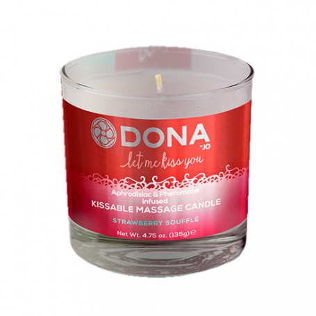 Svíčka masážní DONA KISSABLE MASSAGE CANDLE strawberry | Jo