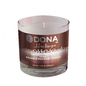 Svíčka masážní DONA KISSABLE MASSAGE CANDLE chocolate