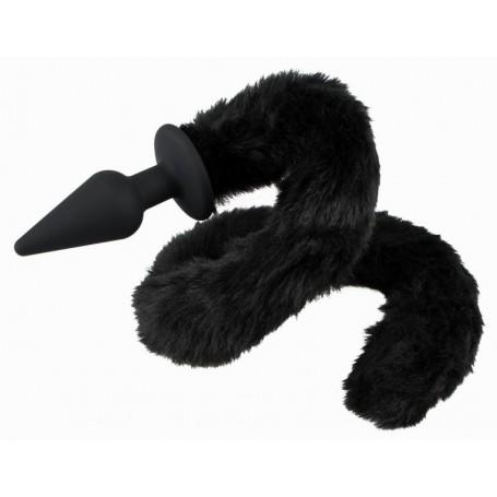 Kolík anální BAD KITTY s ocasem černý