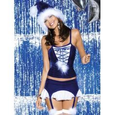 Kostým vánoční SNOWFLAKE CORSET costume S/M
