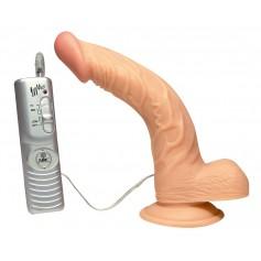 Vibrační dildo s přísavkou CURVED ECSTASY