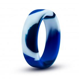 Kroužek na penis BLUSH PERFORMANCE SILICONE CAMO blue