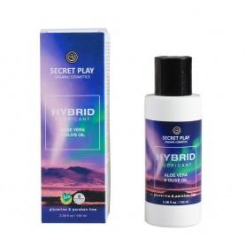 Lubrikační gel SECRET PLAY Hybrid Aloe Vera and Olive oil 100 ml