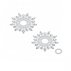 Lepítka GLORIA glittering jewelry silver metalic 2 ks