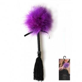 Dráždidlo péřové s třásněmi purple