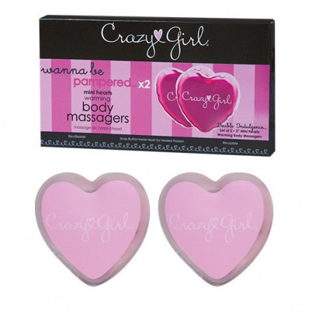 Hřejivá srdíčka CRAZY GIRL MINI Warming Heart Massager 2 ks | Classic Erotica