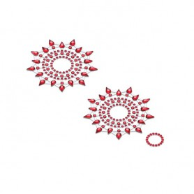 Lepítka GLORIA glittering jewelry red 2 ks