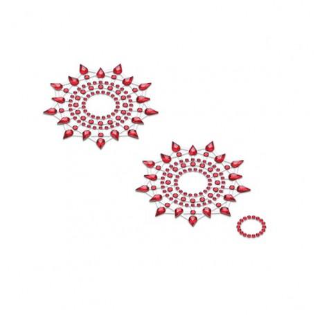 Lepítka GLORIA glittering jewelry red 2 ks