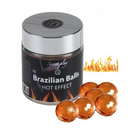 Tělový olej BRAZILIAN HOT EFFECT 6 BALLS SET