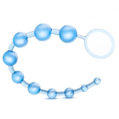 Korále anální BLUSH B YOURS BASIC BEADS blue