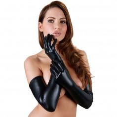 Rukavičky Cottelli Collection WETLOOK black