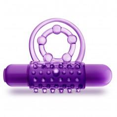 Kroužek vibrační Blush PLAY WITH ME THE PLAYER DOUBLE purple