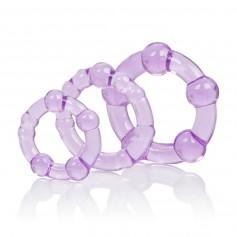 Kroužek na penis ISLAND sada 3 ks purple