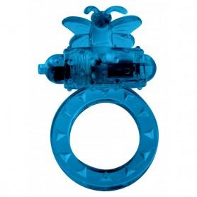 Kroužek na penis vibrační modrý MINI MOTÝLEK