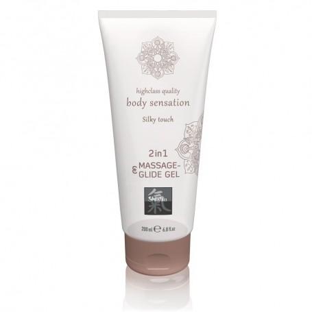 Masážní a lubrikační gel HOT Shiatsu Silky touch 200 ml