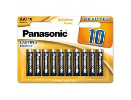 Baterie PANASONIC 10 ks alkalická tužková - AA