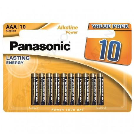 Baterie PANASONIC 10 ks alkalická mikrotužková - AAA