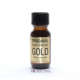 Čistič na kůži Poppers ORIGINAL AMSTERDAM GOLD Extra Strong 25 ml