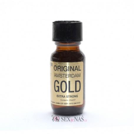 Čistič na kůži Poppers ORIGINAL AMSTERDAM GOLD Extra Strong 25 ml