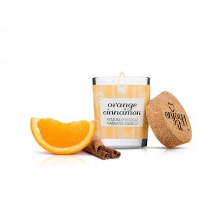 Masážní svíčka na tělo MAGNETIFICO - ENJOY IT! Orange and Cinnamon 70 ml