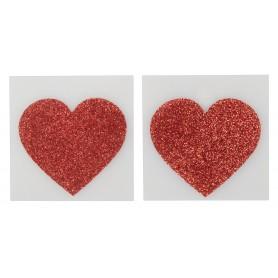 Lepítka na bradavky Titty Stickers heart