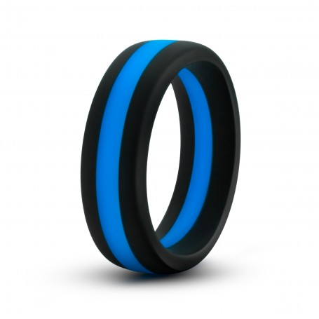Kroužek na penis BLUSH PERFORMANCE SILICONE GO PRO modrý