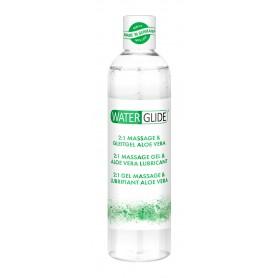 Lubrikační a masážní gel WATERGLIDE 2v1 ALOE VERA 300 ml