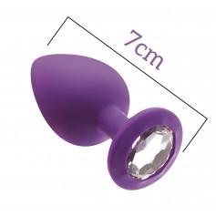 Anální kolík MAI No.47 ANAL PLUG WITH STONE S fialový