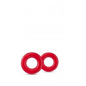 Erekční kroužky Blush STAY HARD DONUT RINGS červené
