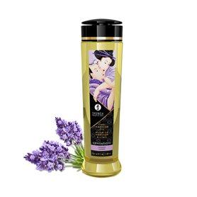 Masážní olej SHUNGA Erotic Massage Oil SENSATION LAVENDER 240 ml