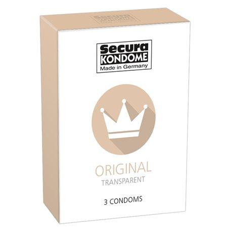 Kondomy Secura ORIGINAL TRANSPARENT 3 ks   Secura KONDOME