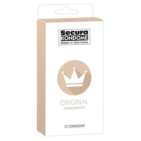 Kondomy Secura ORIGINAL TRANSPARENT 12 ks   Secura KONDOME