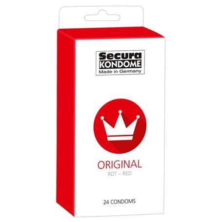 Kondomy Secura ORIGINAL RED 24 ks   Secura KONDOME