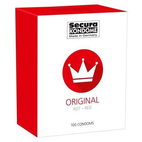 Kondomy Secura ORIGINAL RED 100 ks   Secura KONDOME