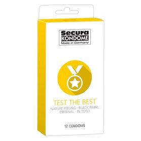 Kondomy Secura TEST THE BEST 12 ks
