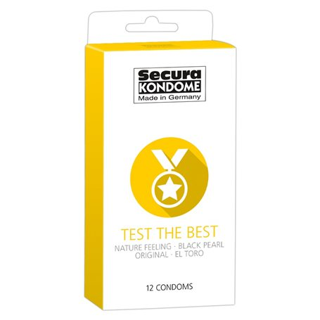 Kondomy Secura TEST THE BEST 12 ks   Secura KONDOME